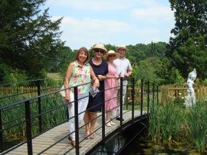 Eduarda Johnson, Judy Hellyar, Jill and Richard Thorley enjoy the view