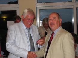 Brian Hellyer receives his Treasurer's jewel