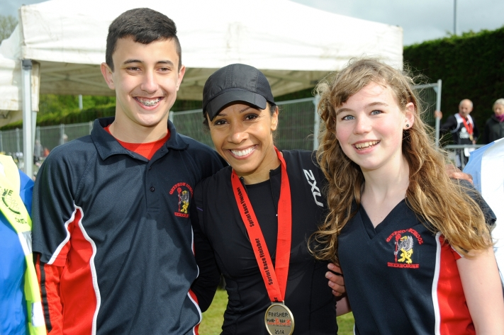 RCSC - (P) Andrew Simpson Olympic Bursary Holders with Kelly Holmes A [w...