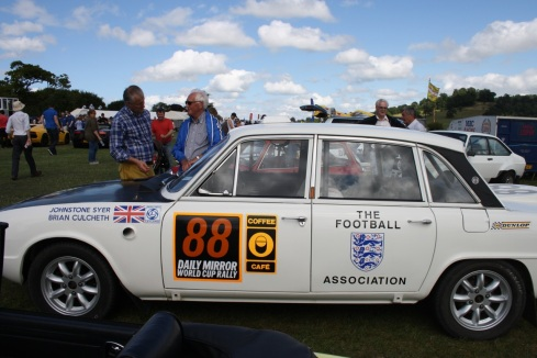 The Dave Bullen Triumph 2000PI replica of the car he drove